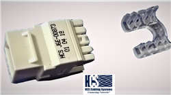 HCS Cat6 UTP Keystone Jack White